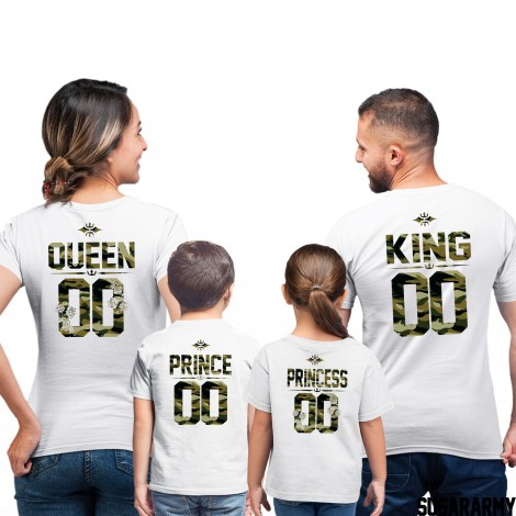 King, Queen and Princess Prince Camouflage Print