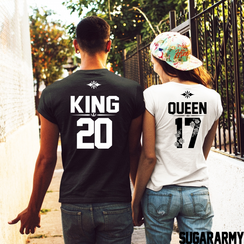 King and queen t shirts custom number sugararmy for Www custom t shirts