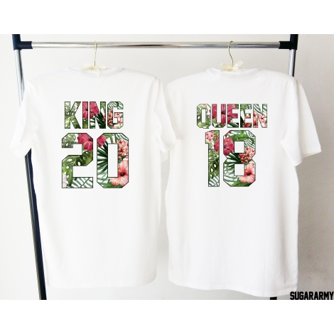 KING & QUEEN - Tropical print