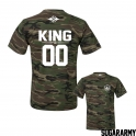 KING and QUEEN couple t-shirts ★ the CAMO COLLECTION ★ Custom number