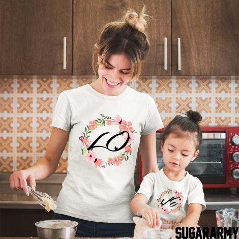 LOVE Mom Daughter t-shirts
