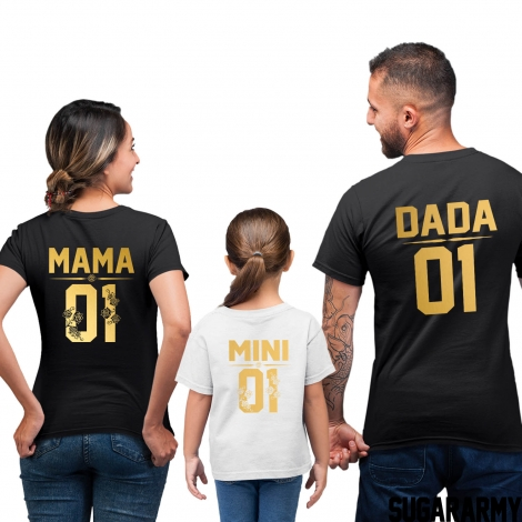 MAMA, DADA, MINI Family Set | Golden Edition