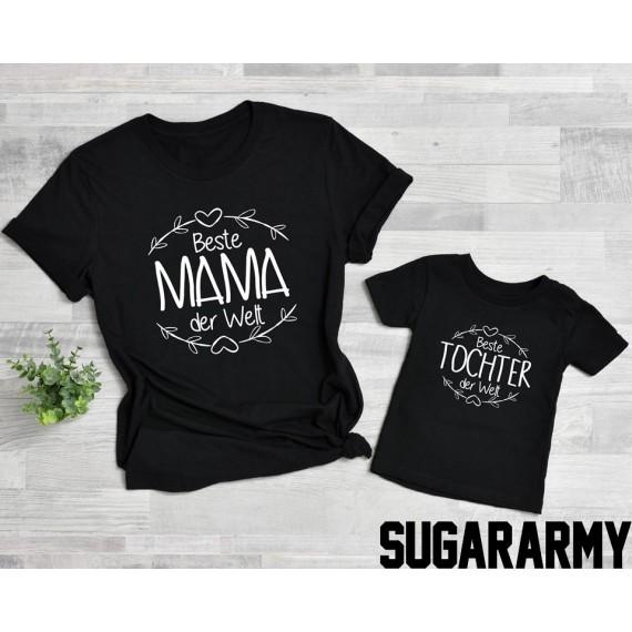 Mama & Mini set - Beste Mama der Welt, Beste Tochter der Welt