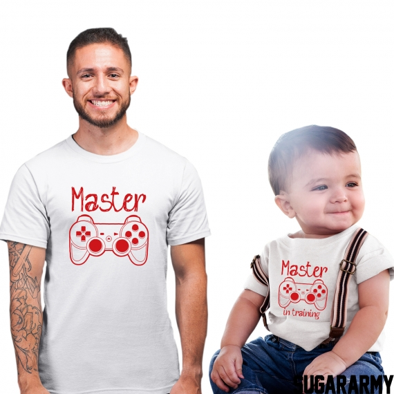 Father and Kid outfit ★ MASTER & MASTER IN TRAINING ★ Red