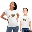 LO VE Leopard Print Matching Mom Daughter Set