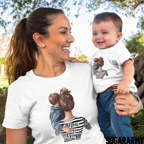 Mom of Boy set of t-shirts