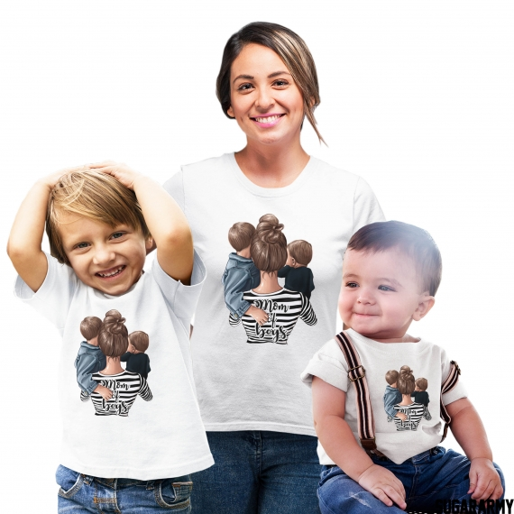Mom of Boys set of t-shirts - 3 T-SHIRTS