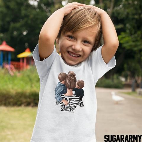 MOM OF 2 BOYS bodysuit/t-shirt