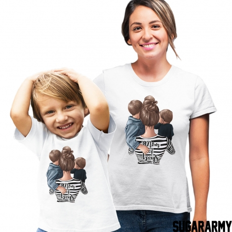 Mom of Boys set of t-shirts