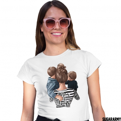 MOM of 2 BOYS - Mom t-shirt