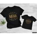 Mama & Daughter set - Beste Mama der Welt, Beste Tochter der Welt Gold letters