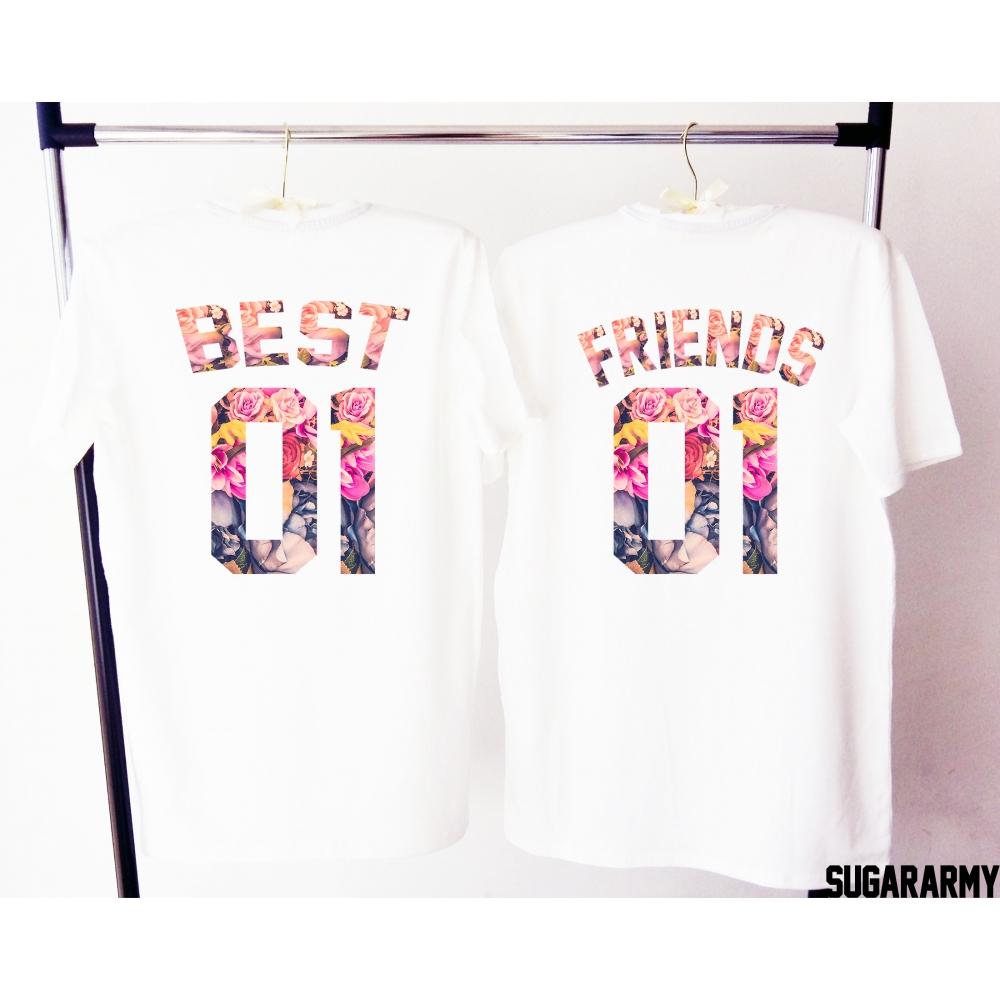 best 01 friends 01 t shirts sugararmy. Black Bedroom Furniture Sets. Home Design Ideas