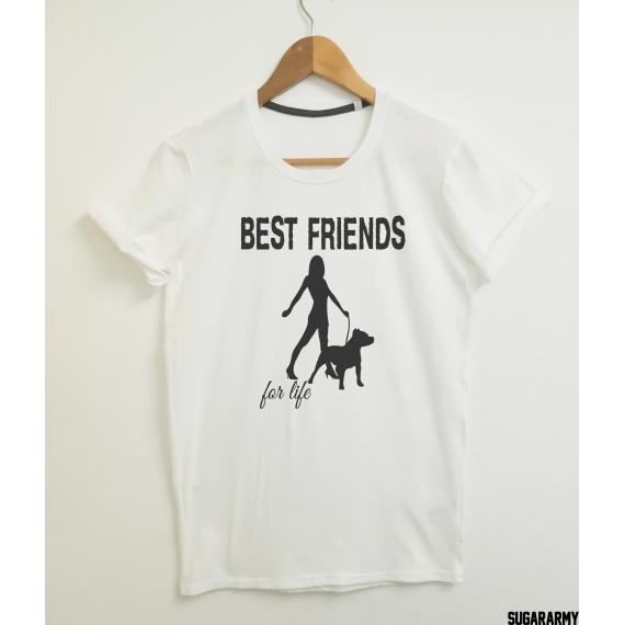 PITBULL BEST FRIENDS FOR LIFE T-SHIRT
