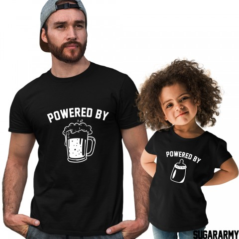 Powered by Beer & Powered by Milk - Cute Family Set