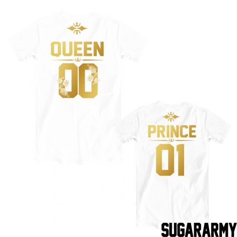 QUEEN and PRINCE golden print