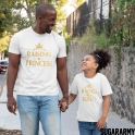 RAISING A PRINCESS RAISED BY A KING Gold Matching Tshirts