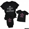 RAISING TWO PRINCESSES Matching Family Set - Pink Letters