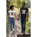 KING & QUEEN Couples T-shirts ★ CUSTOM NUMBER ★