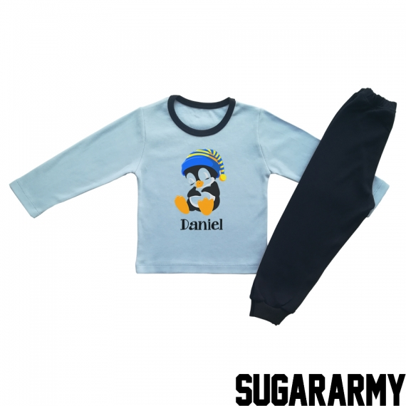 SLEEPY PENGUIN - BLUE PAJAMA