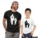 Super Papa & Super Sohn - Matching Father and Son T-shirts