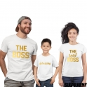 THE BOSS, THE REAL BOSS and BOSSING Family Set Gold Letters