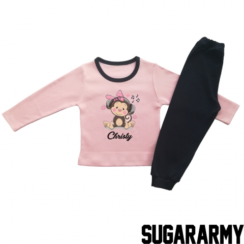 CUTE MONKEY - PINK PAJAMA