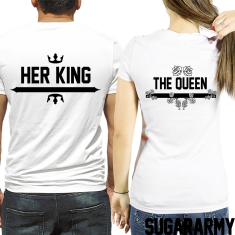 HER KING and THE QUEEN t-shirts