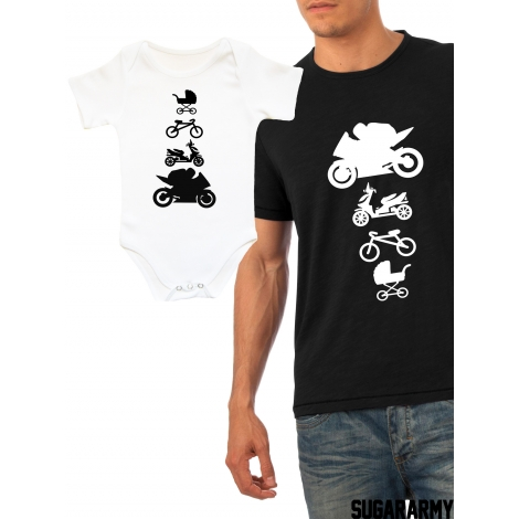 MOTORBIKE father and son matching set