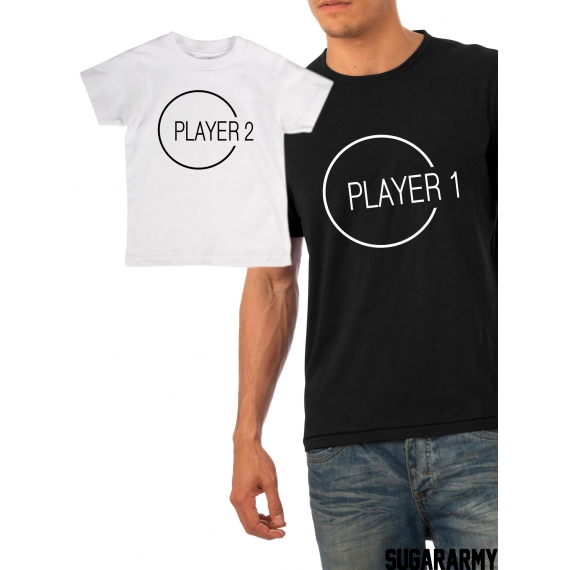 bfda41cd9cf39 Player 1 and Player 2 matching father and son t-shirts — SugarARMY