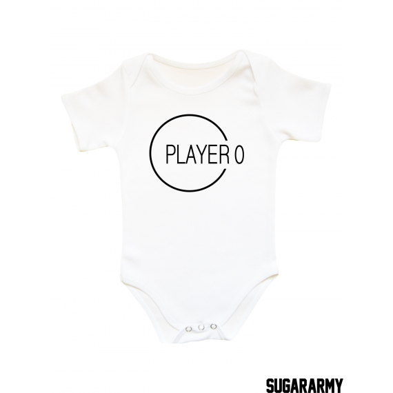 PLAYER -- Graphic design baby bodysuit