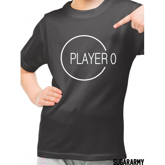 Player 00 kid t-shirt with custom number