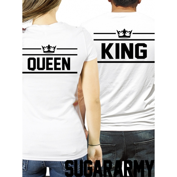 KING and QUEEN couples t-shirts ♛ Special Royalty Collection ♛