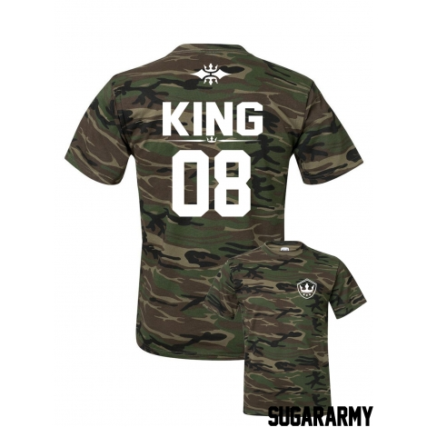 Camouflage KING t-shirt ★ SPECIAL EDITION ★ Custom number