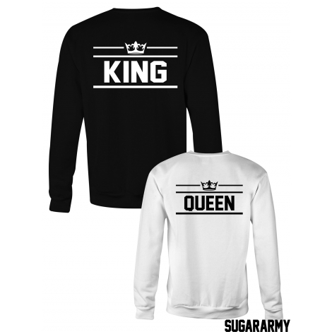 KING & QUEEN matching crewneck sweatshirt for couples