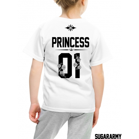 Princess 01 t-shirt with number on the back