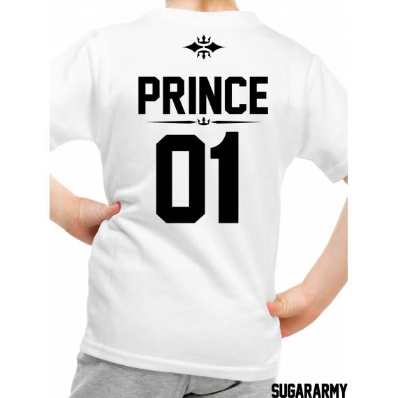 PRINCE 01 kid t-shirt with number on the back