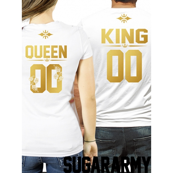King and Queen t-shirts ♛ CUSTOM NUMBER ♛