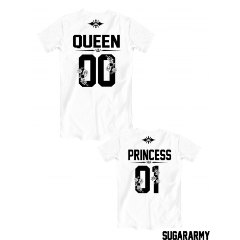 Queen and Princess t-shirts | Matching family set | CUSTOM NUMBER