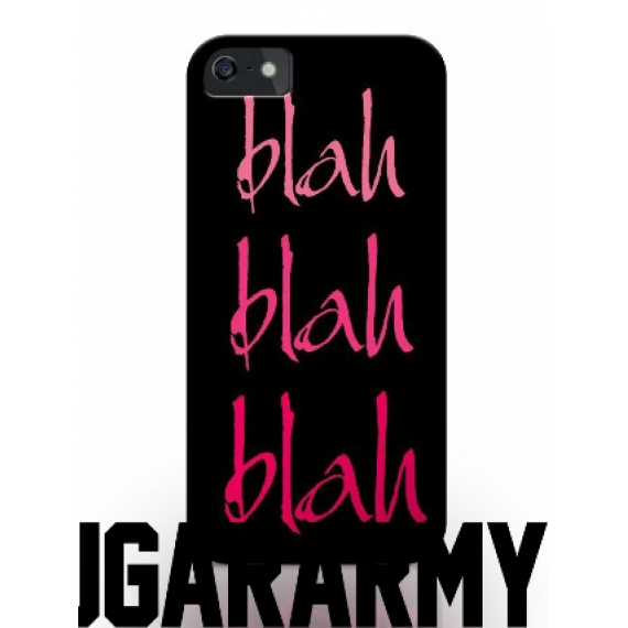 "PINK/BLACK phone case ""Blah Blah Blah"""