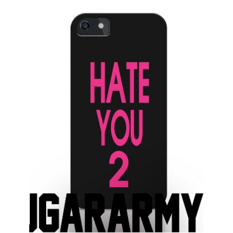 "Black/Pink ""HATE YOU 2"" phone case"