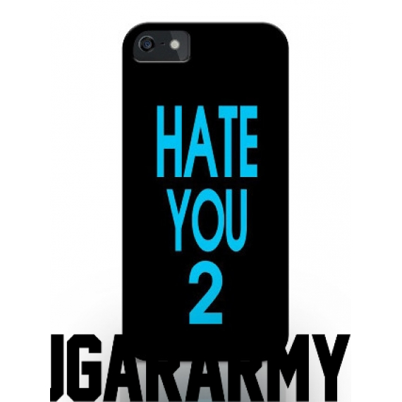 "Blue ""HATE YOU 2"" phone case"