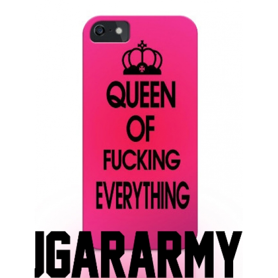 "Trendy pink ""Queen of fucking everything"" phone case"