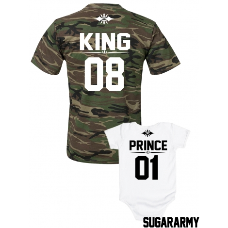 Dad and son King and Prince matching family set