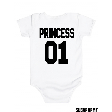 Princess 01 baby bodysuit ★ CUSTOM NUMBER ★