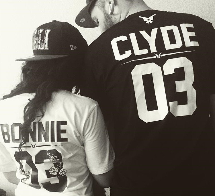 bonnie and clyde t-shirts for man and woman
